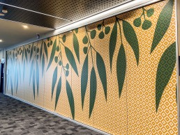 Vinyl Wall Graphics with eucalyptus pattern